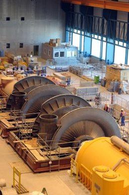Steam and turbine engineers design stationary-power turbines for the production of electricity.
