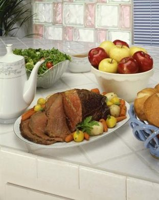 A whole New York boneless roast weighs between 13 to 16 pounds.