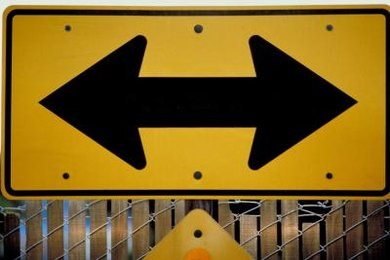 Traffic signs often include opposites that are easily recognizable.