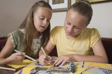 A scrapbook for an acrostic poem is also an easy project for kids to do on their own.