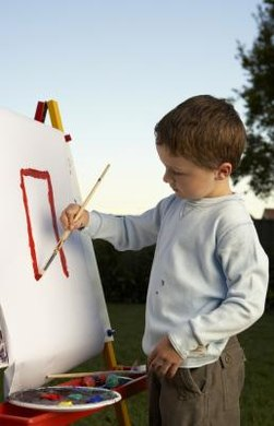 Help your young student to create his own shapes.
