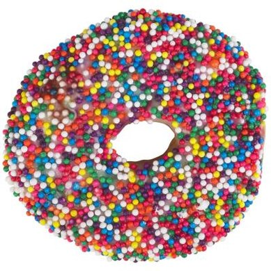 While a sprinkled doughnut may demonstrate the colors of the rainbow, it is not a healthy snack choice.