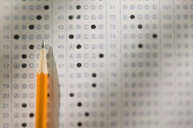 Raw scores are typically associated with standardized tests.