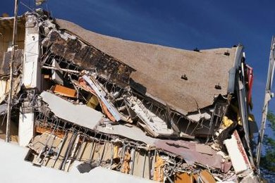 Earthquakes can be strong enough to collapse buildings.