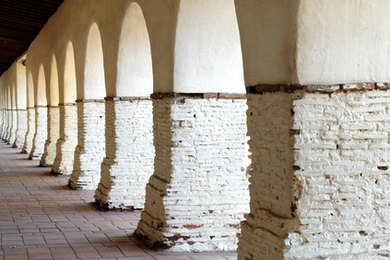 Missions typically feature thick walls and arches.