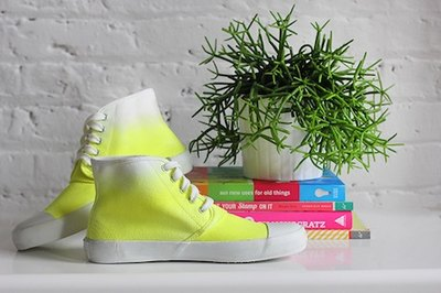 Elevate a basic pair of sneakers by dip dying them.