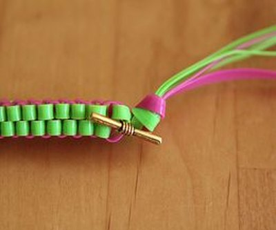 Finish off your bracelet with a knot.