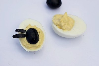 Feeding a crowd? Leave a few plain eggs for those who aren't fans of olives.