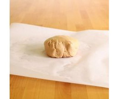 Edible peanut butter play dough that's soft and sweet.