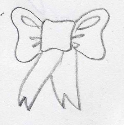 how to draw a ribbon bow