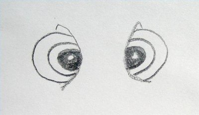 Draw Squirt's eyes.