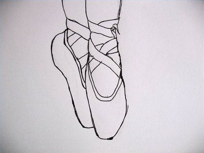 How to draw ballet shoes with pictures ehow for Ballerina drawing step by step