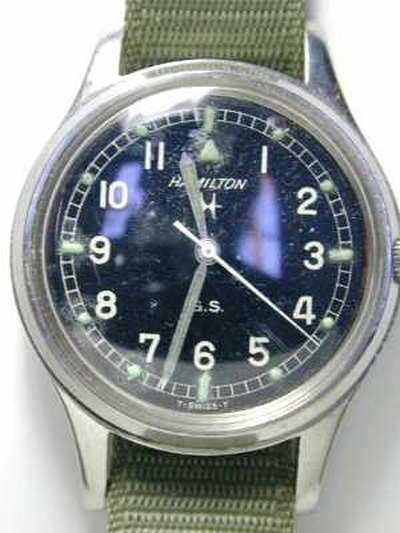 The Vietnam-era Hamilton 400 watch is still used today.