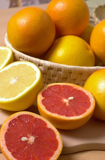 Citrus fruits like oranges are a good source of vitamin C.