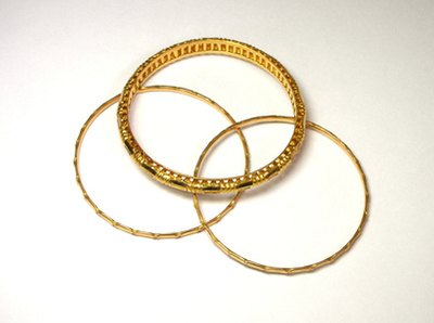 Bracelets are commonly made from 14K gold.