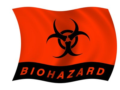 Regulated waste must be clearly identified with the biohazard label.