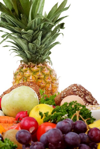 Fruits and vegetables suppy complex carbohydrates.