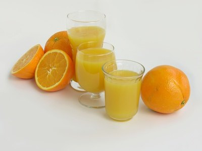 Fruit juices contain high levels of sugar and acid.