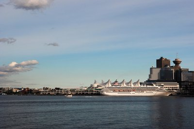 Cruise port in Vancouver, British Columbia.