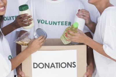 Separate donations by item kind and quanity.