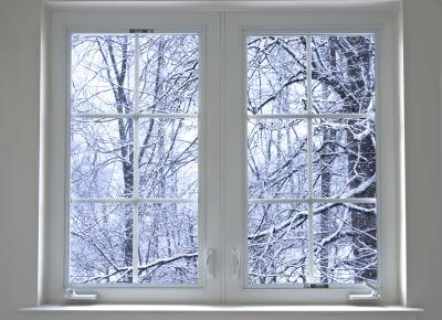 Window blocking winter air