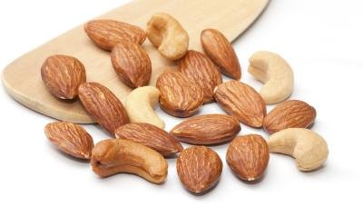 The monosaturated fats found in nuts is also helpful.