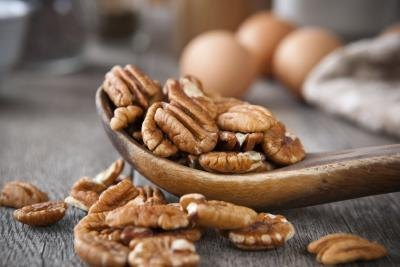 Pecans and several other varieties of nuts are allowed.