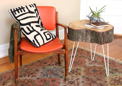 Make rustic modern end tables.
