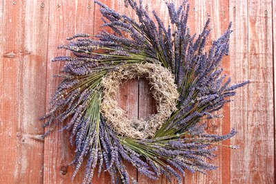 A lavender wreath is a beauty to behold.