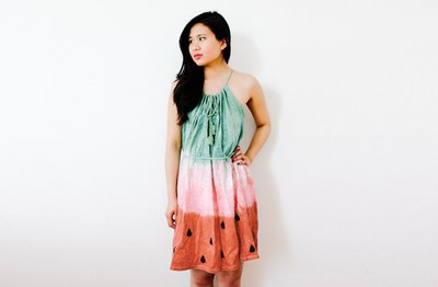 Sweeten up your summer with a DIY watermelon dress.