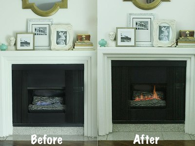 How to Make a Gas Fireplace More Like a Wood-Burning One | eHow