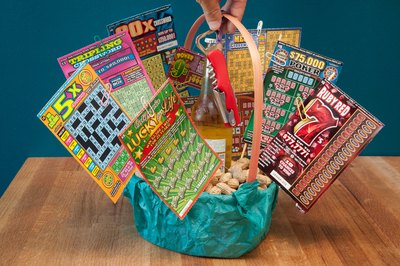 How to Make a Scratch Off Lottery Ticket Gift Basket | eHow