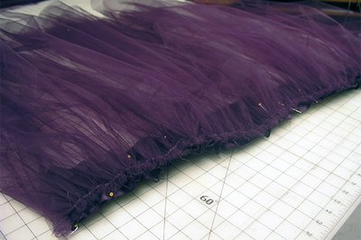 The first layer of tulle will be the longest length.
