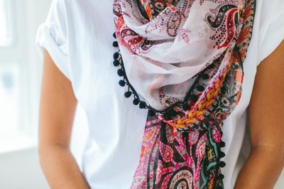 Lightweight scarves can be worn in multiple ways.