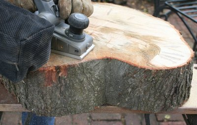 Use a planer to expose the wood grain.