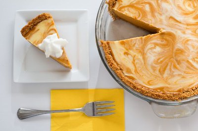 Pumpkin cheesecake is a refreshing update on pumpkin pie.