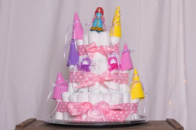 How To Make A Diaper Castle Cake For A Girl With Pictures Ehow