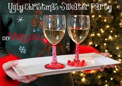 These attractive wine glasses will be sure to get you a smooch under the mistletoe.
