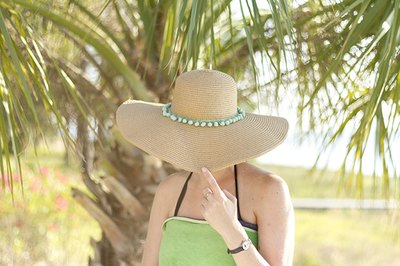 Take the hat for a spin while lounging under the sun at the beach or pool.