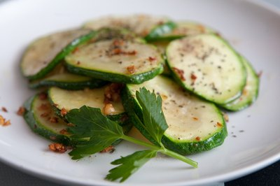 Fried zucchini slices make a tasty accompaniment to a meal.