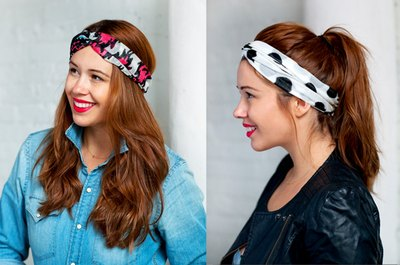 Make matching turban headbands for you and your friends.