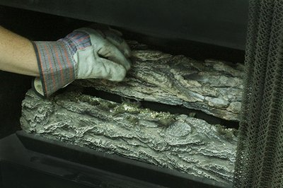 Vermiculite helps cover the burner and distribute gas.