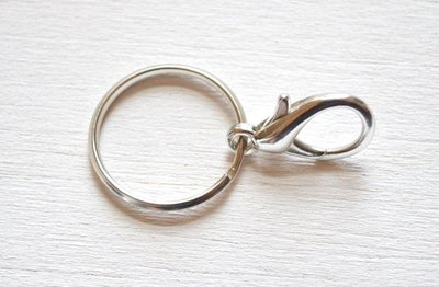 Open a key ring and add a clasp.
