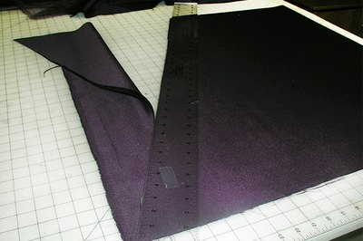 Cut out the skirt lining.