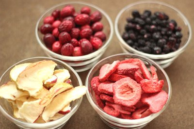 Freeze-dried fruit make colorful accents