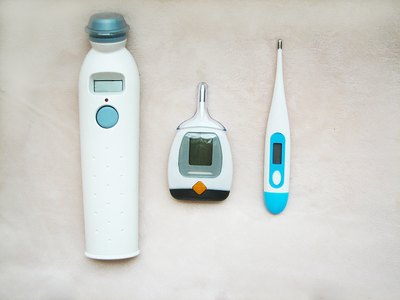 Temporal, rectal and oral thermometers are options when taking a temperature.
