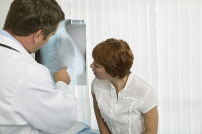 A chest X-ray will help the doctor see if ribs are broken or merely bruised.