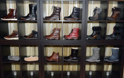 Ugg boot display in NYC store