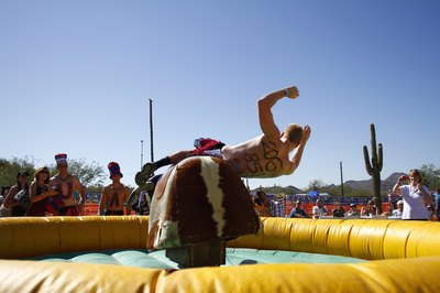 Use a mechanical bull to create a rodeo theme for your fall party.
