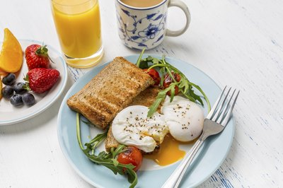 Eggs with whole-wheat toast